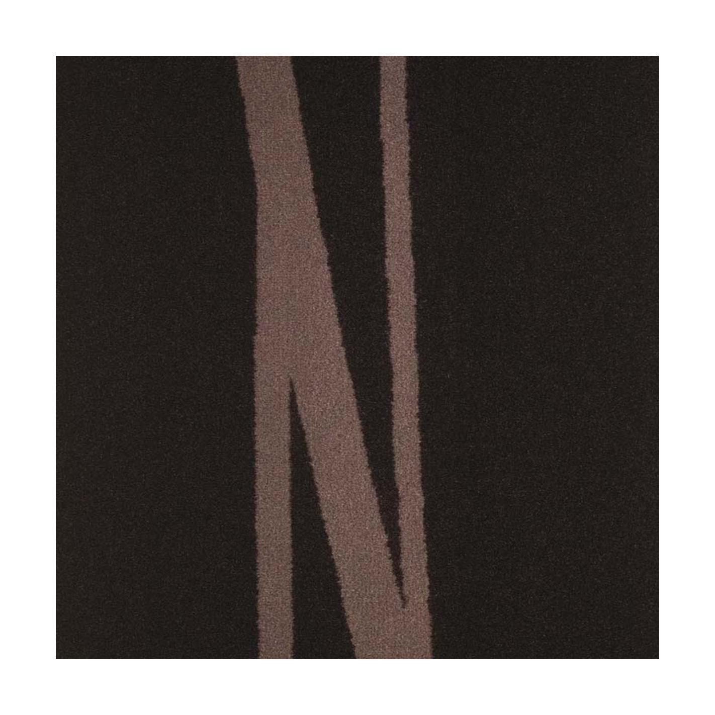 Moquette velours ras à motif velours ras chocolat et beige